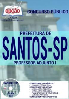 Apostila Concurso Prefeitura de Santos - SP - Professor Adjunto I - 2016