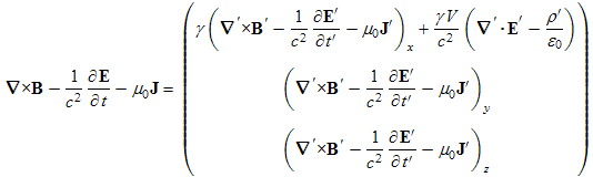 transformed fourth Maxwell equation