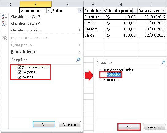 Como filtrar e classificar dados no Excel