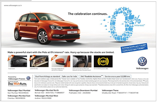 Buy Volkswagen Polo with Just (zero) 0% Interest rate and with great exchange benefits and loyalty benefits