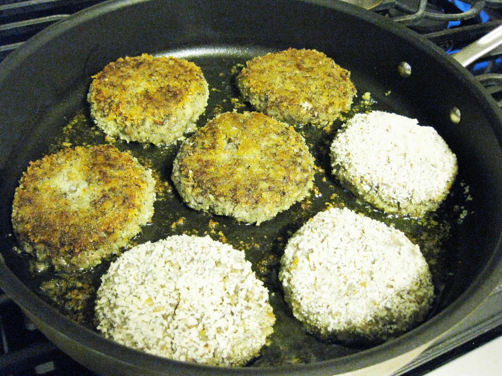 Bloatal Recall: Farro and Mushroom Burgers