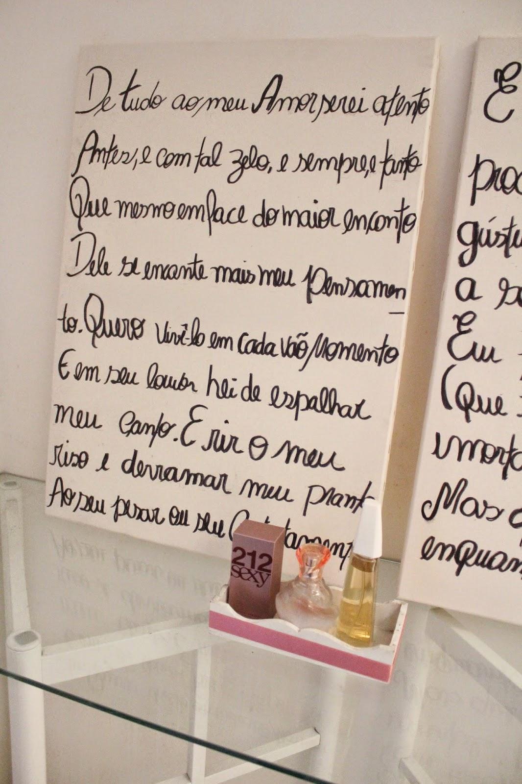 Telas de pintura escritas manualmente, decoração do quarto, cabeceira de cama de casal