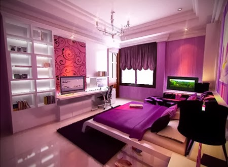 Bedroom Glamor Ideas: Violet Bedroom Glamor Ideas.