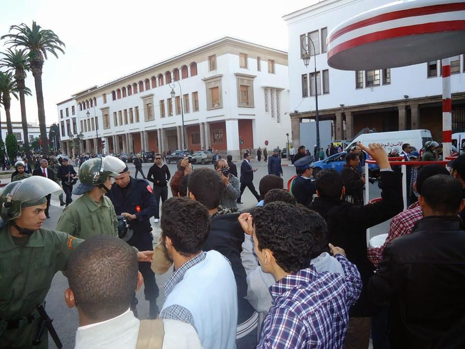 أول وقفة  طلابية ضد قانون تجريم التظاهر في الجامعات