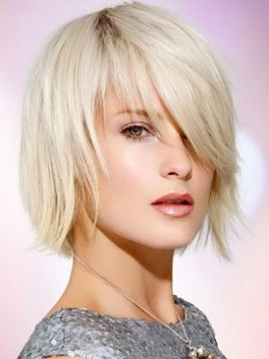 cabello medio corte lacio