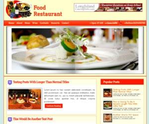 Restaurant Mag Blogger Template