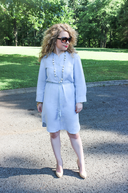 Lawyer Lookbook: Ann Taylor, Michael Kors Hamilton, Ivanka Trump, lawyer fashion, blog, Chambray Shirt Dress