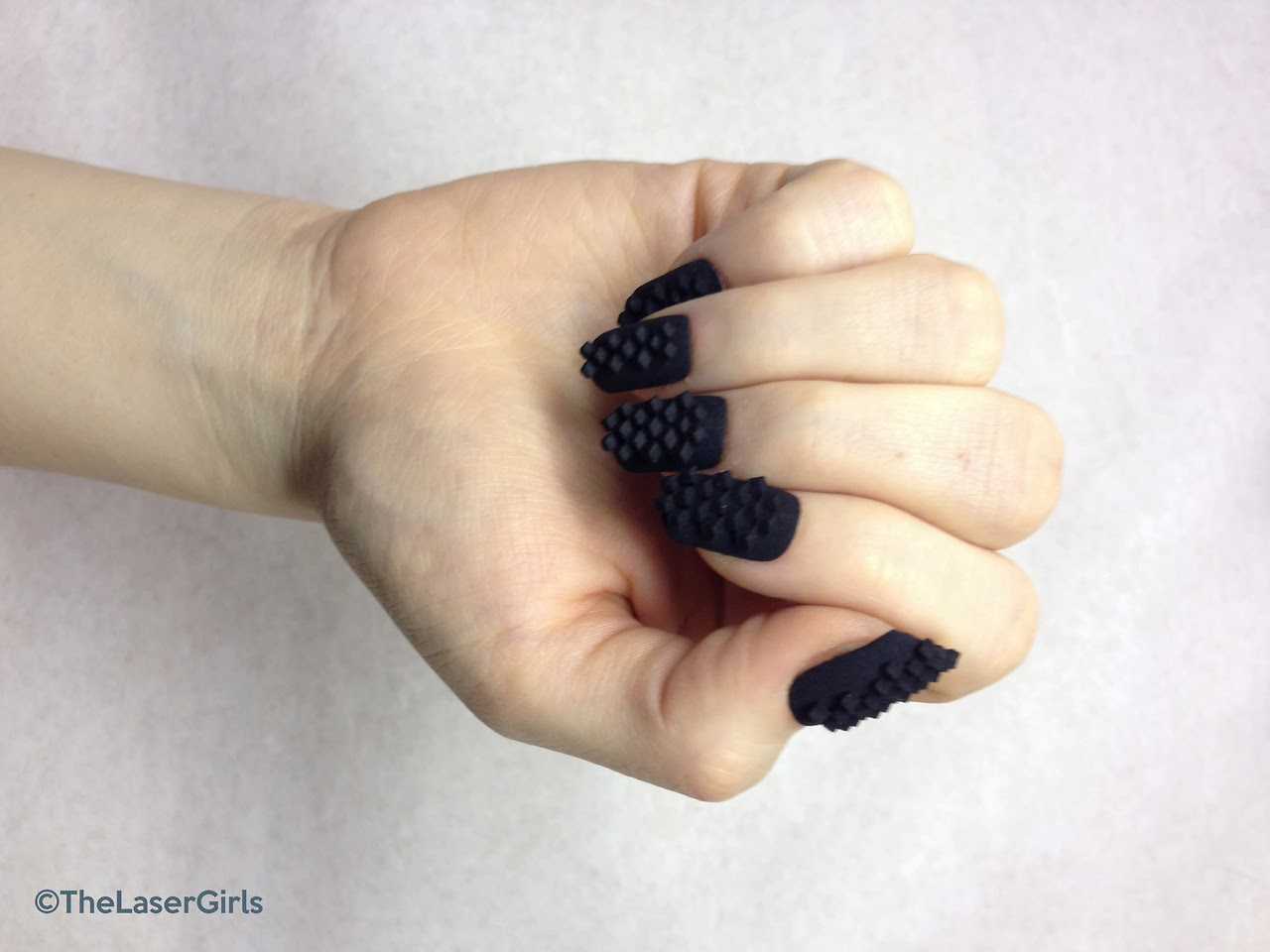 3D Printed Nail Art By The Laser Girls
