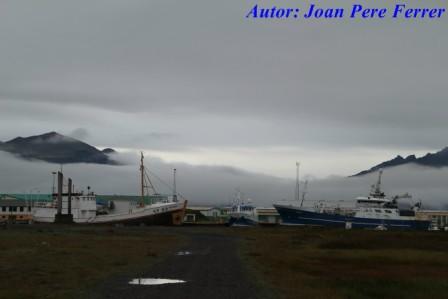 Pueblo de Hofn en Islandia