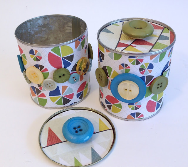 upcycled tin cans buttons lisa fulmer