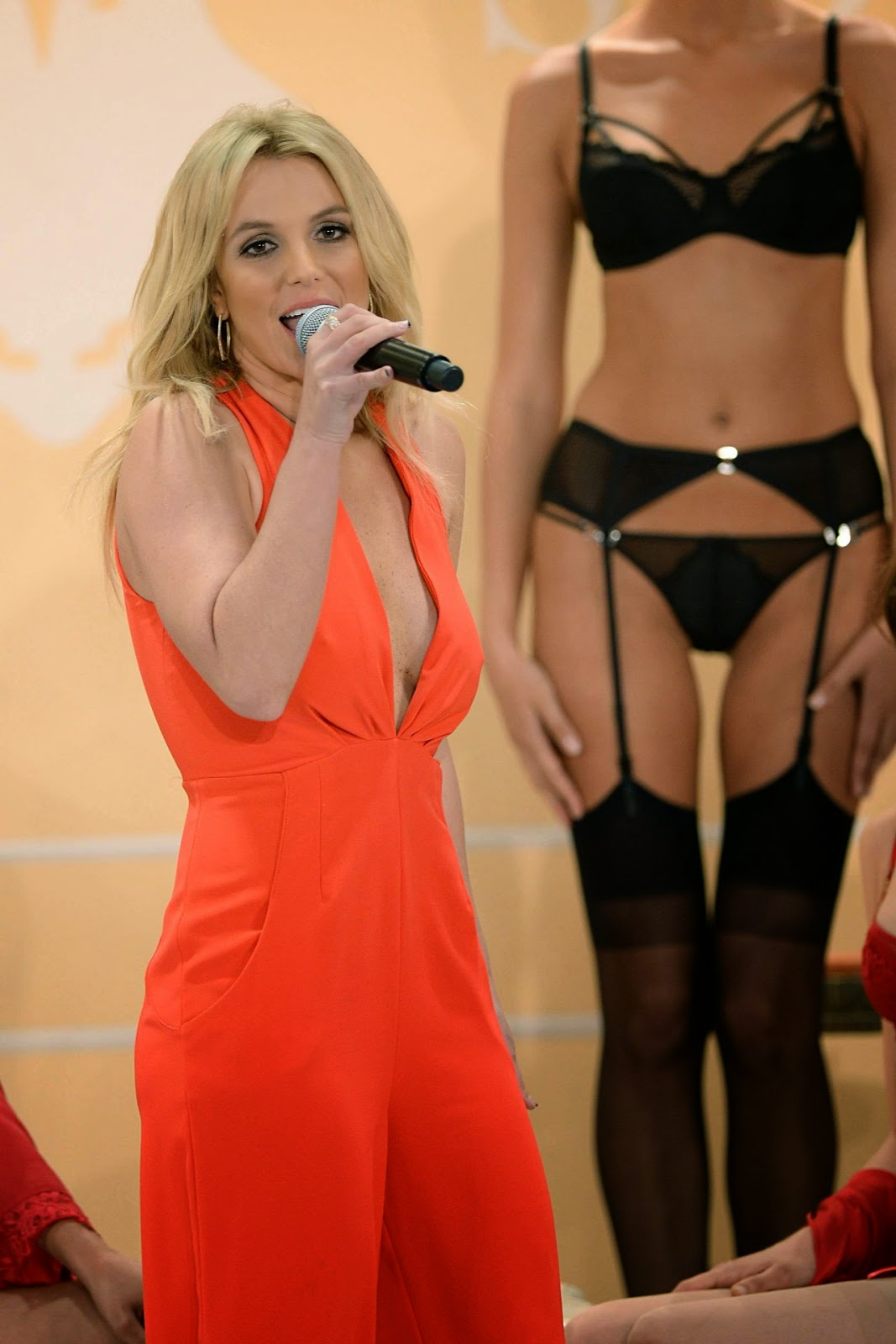 Britney Spears unveils new lingerie collection 'The Intimate Britney Spears' in New York City