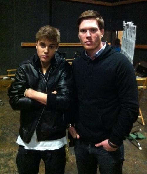 Justin Bieber Justin-set-of-Boyfriend