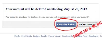 Batal Hapus Akun Facebook