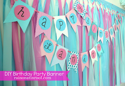 Blue & Pink Birthday Party {rainonatinroof.com} #birthday #party #DIY #pink #blue