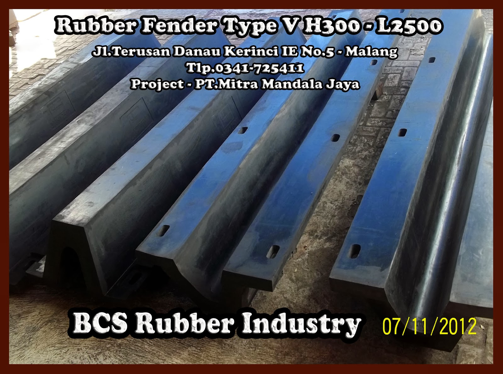 RUBBER FENDER  V -SPECIAL PRUDUCTS - BCS RUBBER INDUSTRY