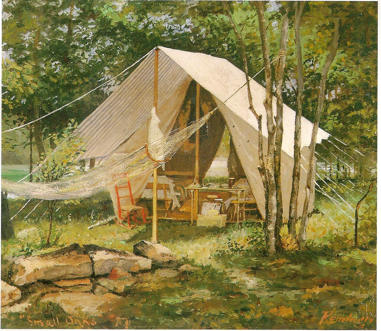Frederic Remington's tent and camping stuff