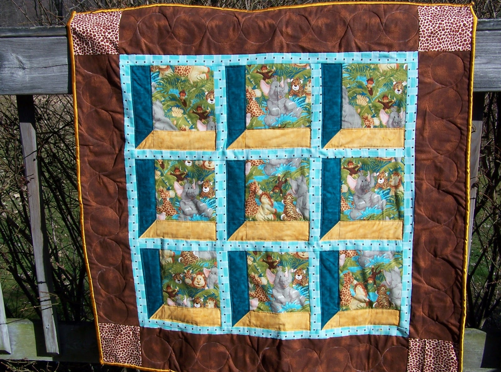 Glady 39 s gab on quilts and quotes more flowers and attic for Window quilt