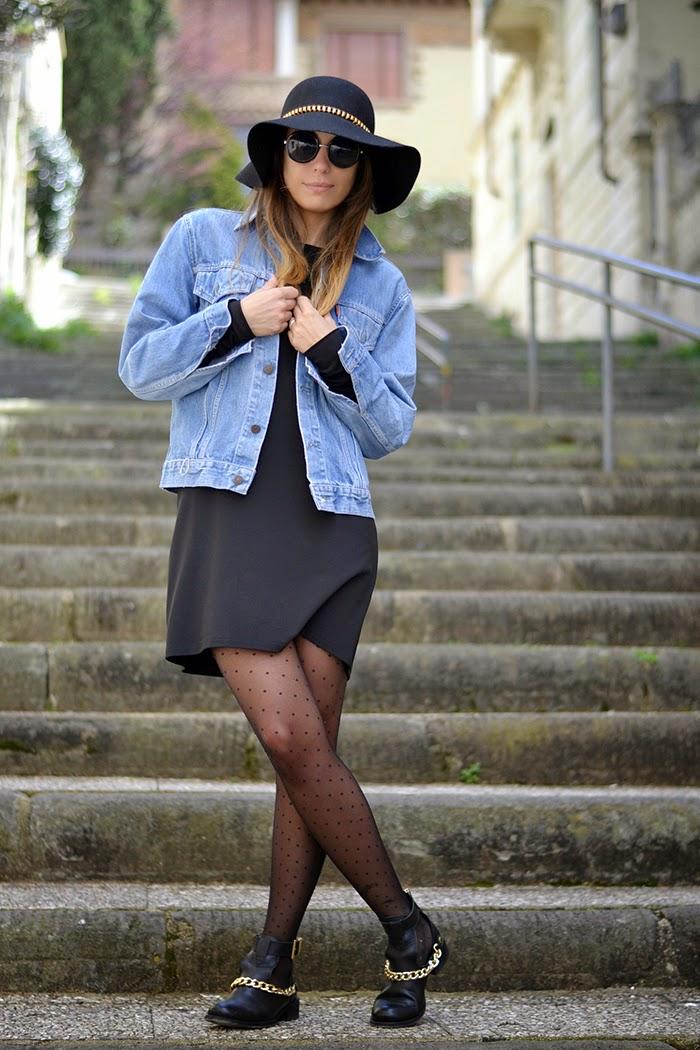 giacca jeans abito nero