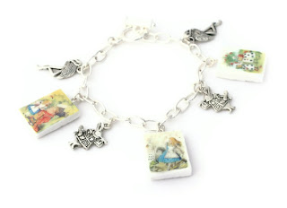 The Queen of Hearts Charm Bracelet handmade from Polymer Clay