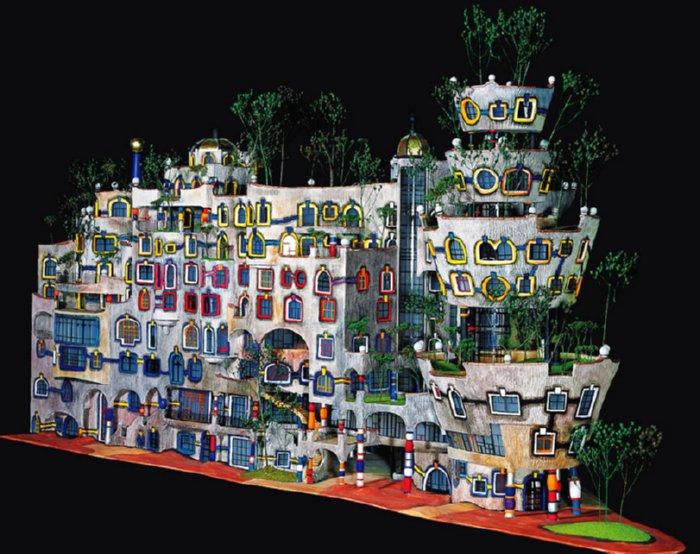 Paradis express hundertwasser on inspirationgreen for Architecture hundertwasser