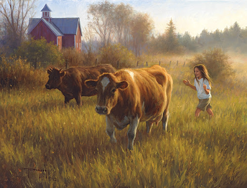 Time for Milking by Robert Duncan