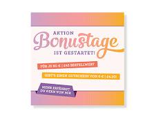Bonustage im August bei Stampin' Up! Pro 60 € Einkaufswert bekommst Du 6 € zum Shoppen im September