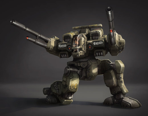Battle Mech - Highlanders Rifleman por Shimmering-Sword