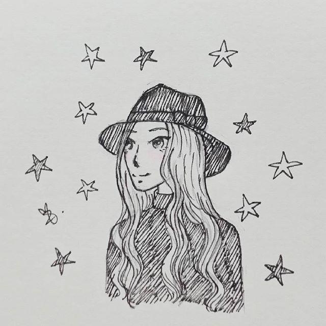 inktober 2015 cool girl