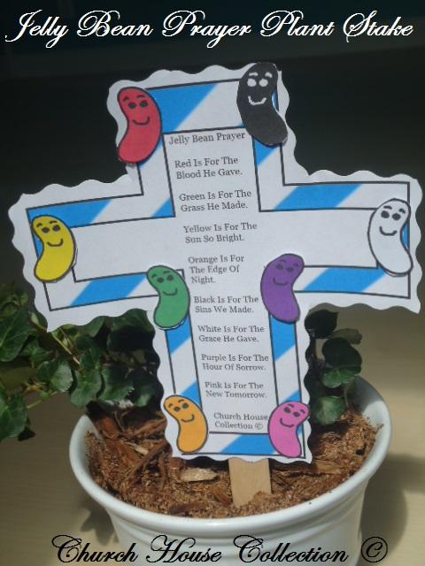 Jelly Bean Prayer Cross Craft