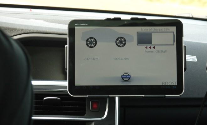 Volvo S60 KERS prototype tablet
