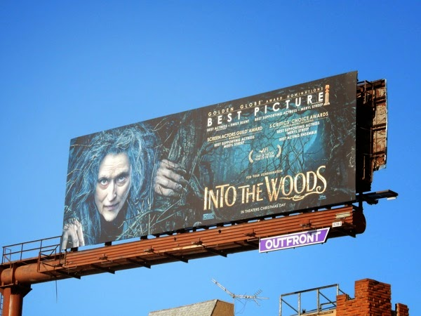 Into the Woods Best Picture consideration billboard