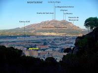 Martorell i Montserrat des de la Torre del Clos