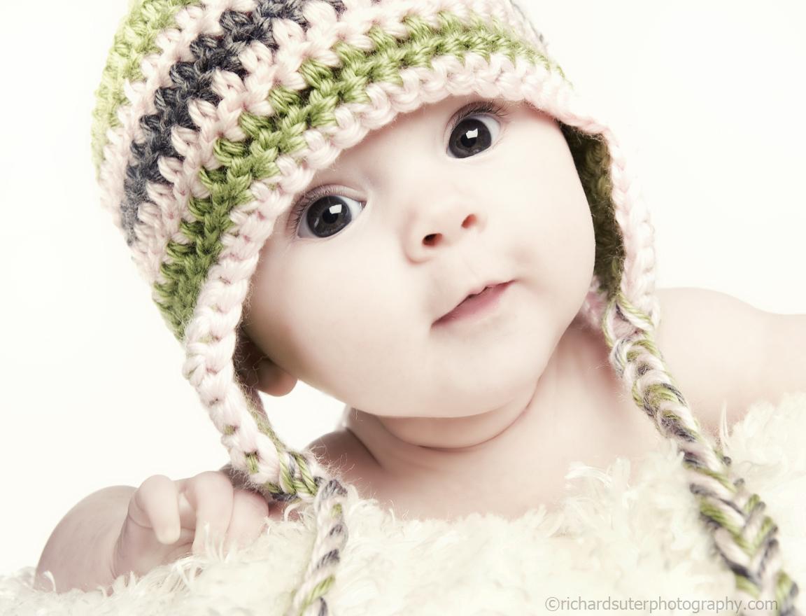 cute baby: sweet baby girls photo