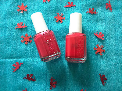 Essie Jump in my jumpsuit (left) and Shall we Challet? (right)