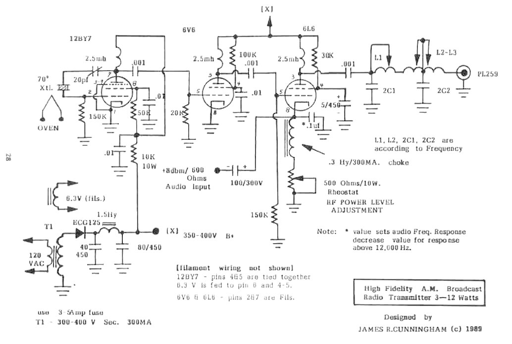 tube transmitter low power radio low power am circuits of james r cunningham scosche fm transmitter wiring diagram at edmiracle.co