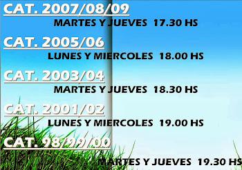 HORARIOS  A PARTIR DE MARZO DE 2014