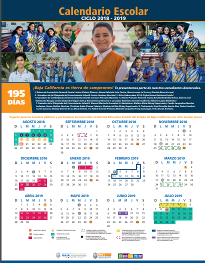 Calendario 195 días