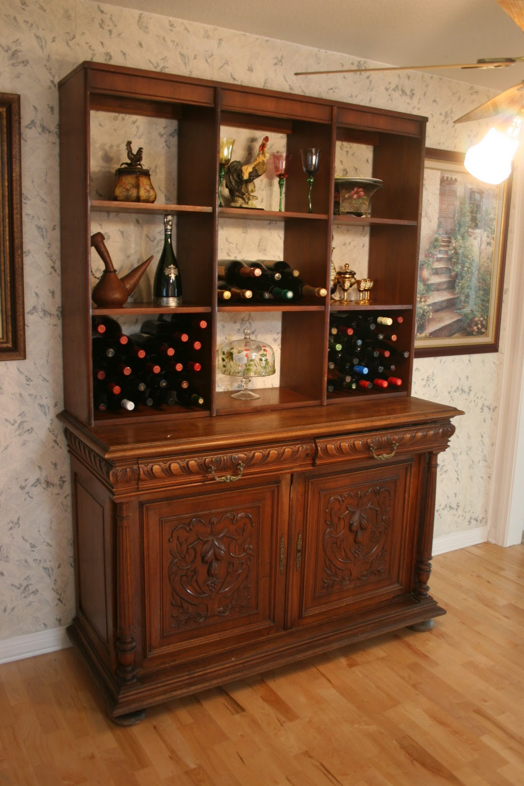 Adventures of the Art Junk Gypsy: Repurposed Sideboard and shelf ...