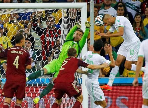 """FÚTBOL Mundial Brasil 2014 -- Argelia 1-1 Rusia. """"Decepción rusa y fiesta en Argelia"""""""