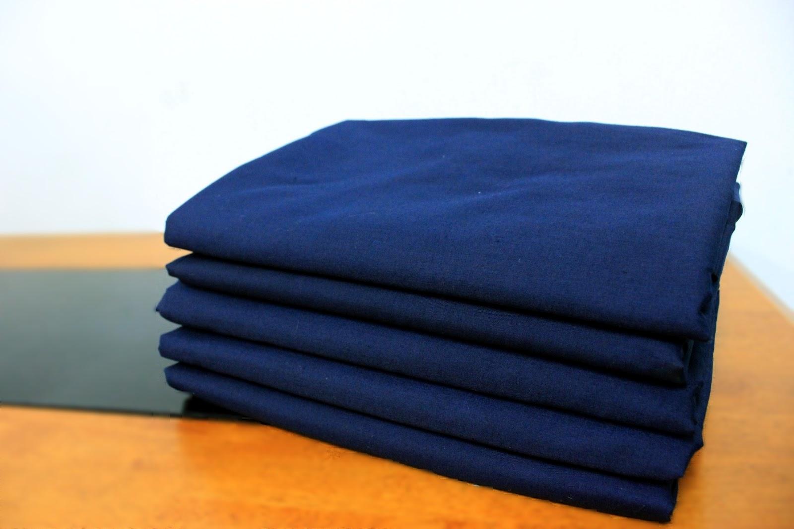 Set Cadar Bergetah Fitted Saiz Single Warna Navy Blue