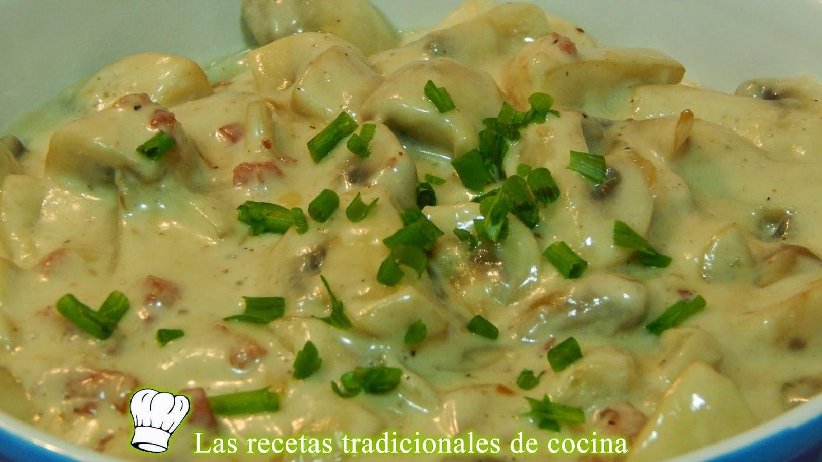 Recetas De Cocina Con Champiñones | Receta Facil De Champinones A La Crema Recetas De Cocina Con