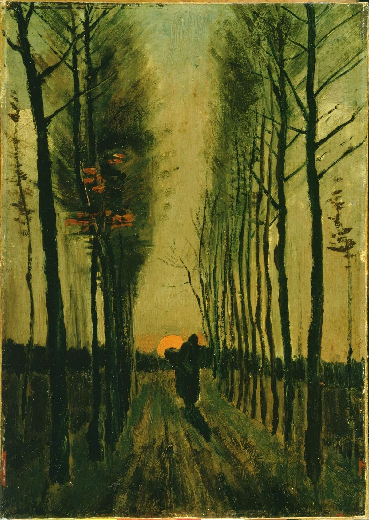 Avenue of Poplars at Sunset by Vincent van Gogh