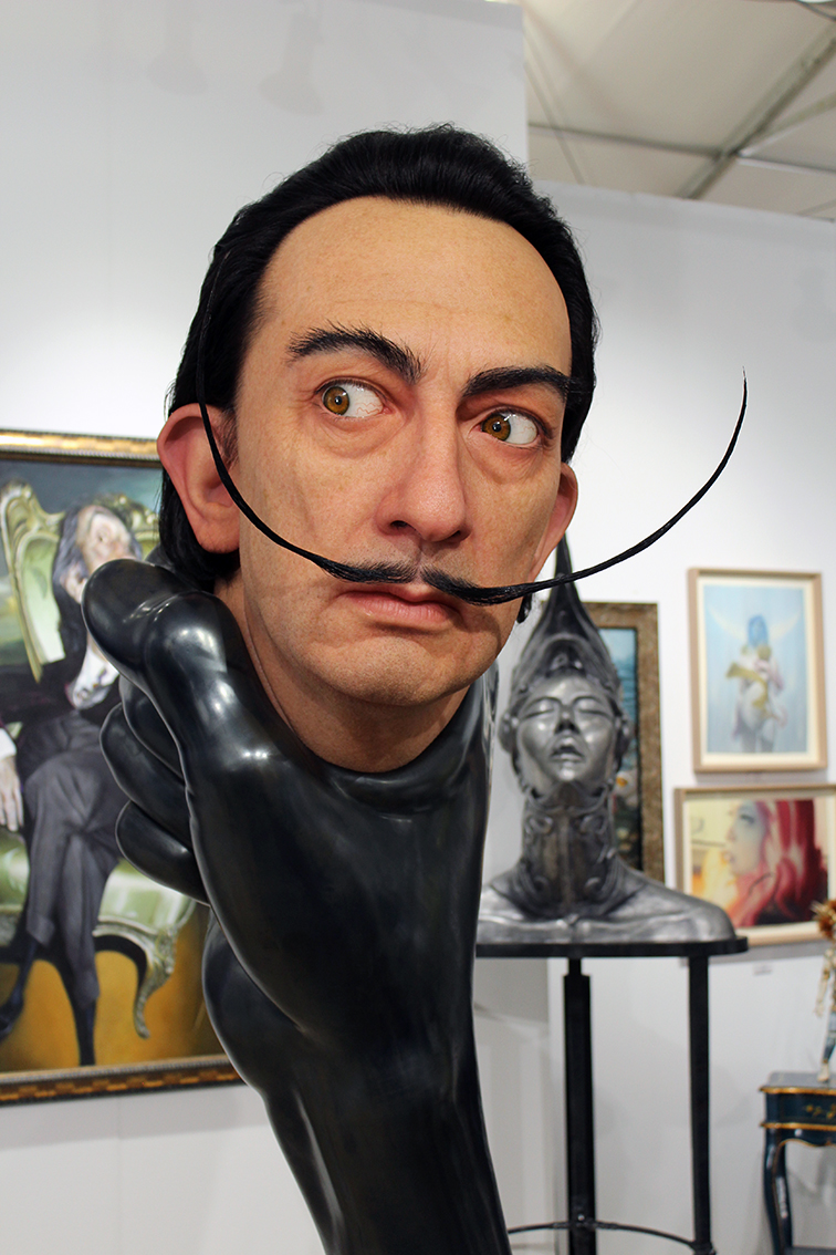 Kazuhiro Tsuji giant Salvador Dali sculpture at Scope Gallery in Miami Beach Art Basel
