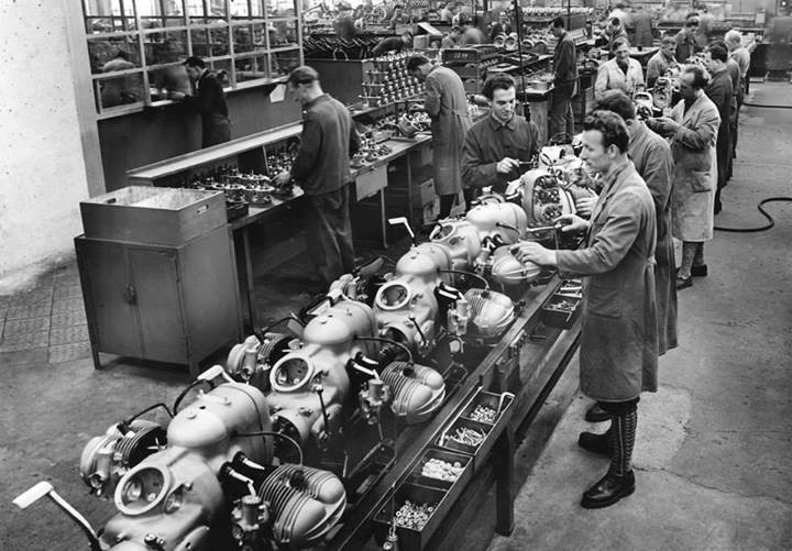Old Airhead Engine Assembly Line Adventure Rider