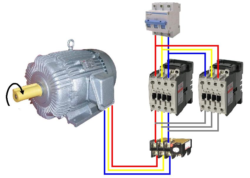 wiring diagram star-delta connection in 3-phase induction motor, Wiring diagram