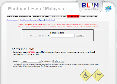 Semak Keputusan BL1M (Bantuan Lesen 1Malaysia)