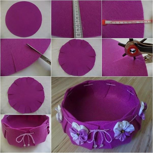 How To Make Beautiful Felt Basket
