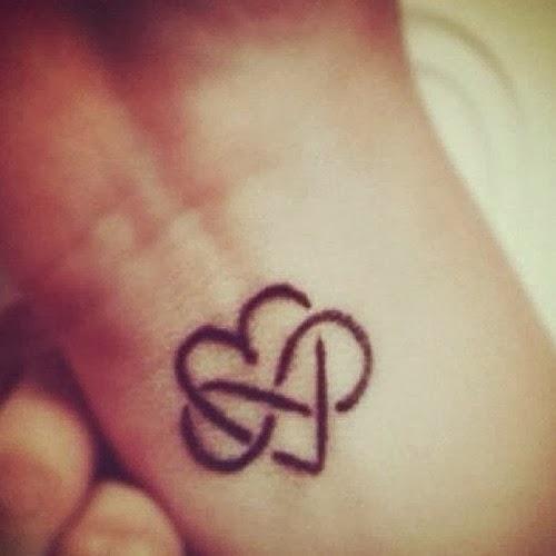 Infinity Love Heart Tattoo