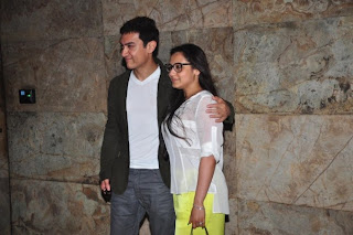 Rani Mukarjee and Amir Khan at special screening of 'Ship Of Theseus'