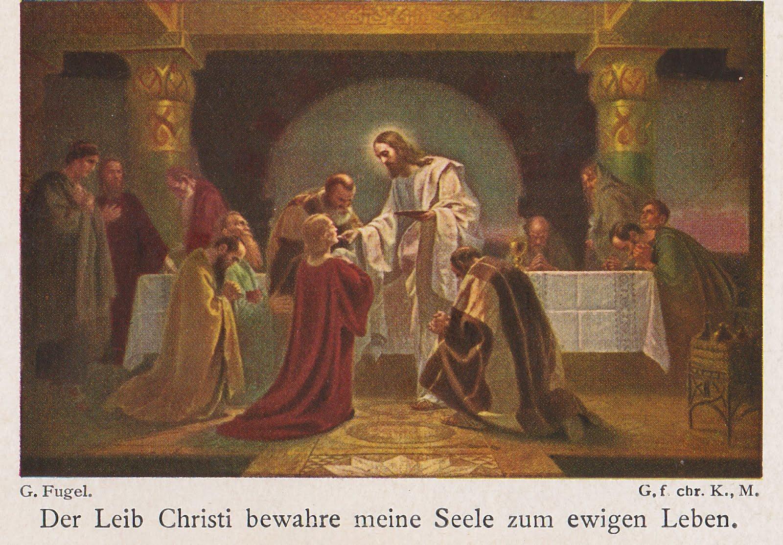 Der Leib Christi bewahre meine Seele zum ewigen Leben